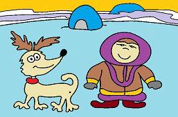Эскимос и собака