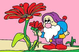 Гном и цветок