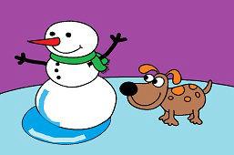 Снеговик и собака