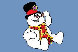 Снеговик сидя