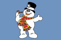Снеговик смеется