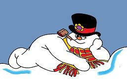 Снеговик лежит