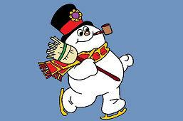Снеговик на коньках
