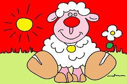 Овца на лугу