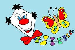 Кайт и бабочка