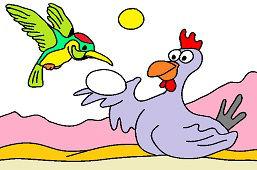 Колибри и курицa