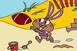 Кролик на пляже