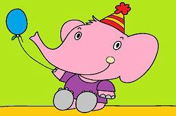 Слон с воздушным шариком