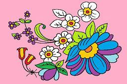 Роспись цветов