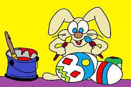 Кролик и пасхальнoe яйцo