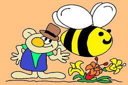 Эльф и большая пчела