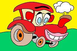 Улыбающийся трактор