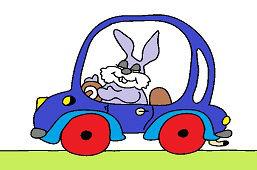 Кролик в автомобиле