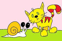 Кот и улитка