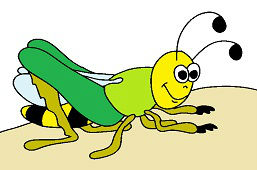 Зелёный кузнечик