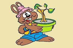 Кролик садовник