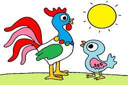 Петух и цыпленок