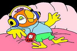Попугай в постели