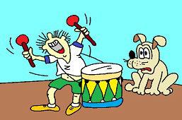Игра на барабане