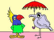 Птица с зонтиком