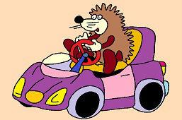 Ёжик и фиолетовый автомобиль