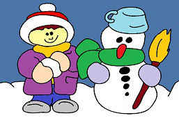 Я и друг снеговик