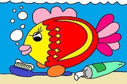 Рыба и зубная щетка