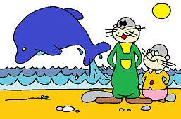 Сурки и дельфин