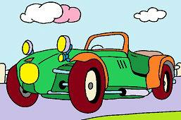 Старый спортивный автомобиль