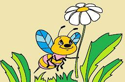 Пчёлка и цветок