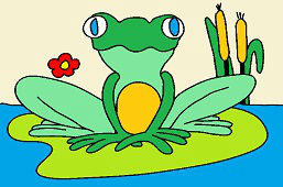 Лягушка и водяная лилия