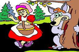 Красная Шапочка в лесу