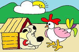 Курица и собака