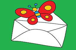 Бабочка и конверт