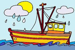 Буря на море