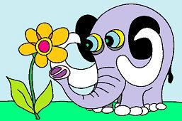 Слон и цветок
