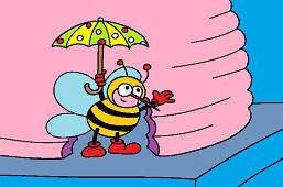 Пчёлка с зонтиком