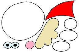 Вырежи Деда Мороза