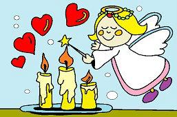 Ангел и свечи