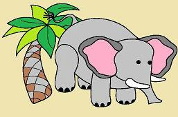 Слон и пальма
