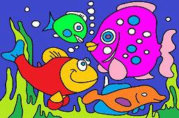 Рыба в морских глубинах