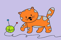 Котёнок и клубок