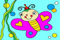 Молодая бабочка
