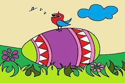 Пасхальное яйцо и птица