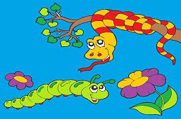 Змей и гусеница