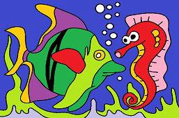 Рыба и морской конек