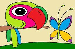 Птица Габо и бабочка