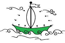 Парусное судно с флагом