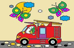 Бабочки и пожарная машина