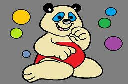 Медведь и цветные пузыри